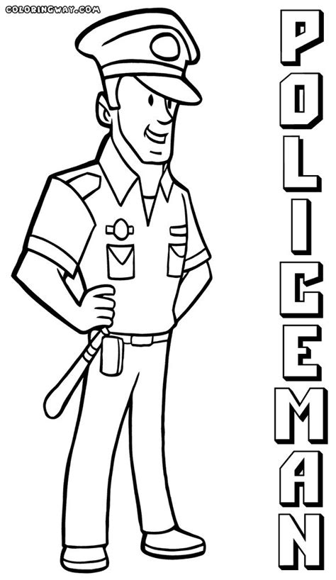fresh police officer coloring pages    coloring