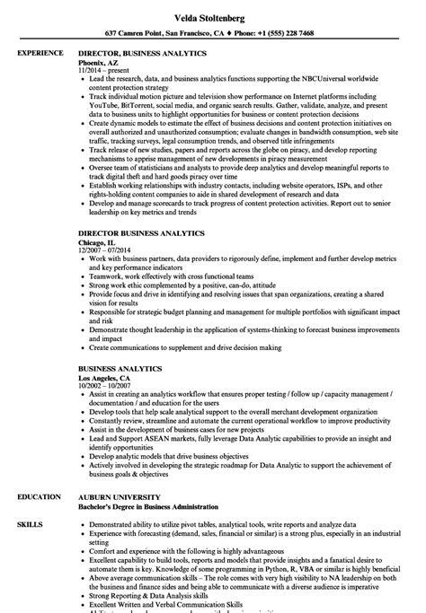 Business Analytics Resume by Business Analytics Resume Sles Velvet