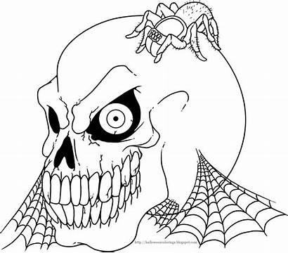 Halloween Colorings Skeleton Coloring Pages Adult Printable