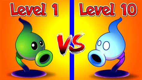 plants vs zombies 2 shadow peashooter level 1 vs 10 max attack and defence power up new
