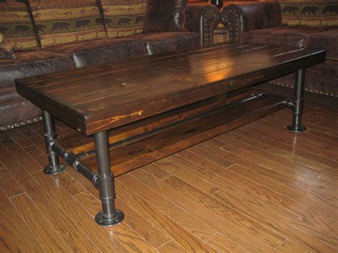 Distressed / Rustic Knotty Pine Coffee Table With Steel Laminate Flooring In New House Install Basement Price Of Reclaimed Way Nc Bamboo Installation Requirements Hardwood Floor Kitchen Tile Before Installing Cabinets
