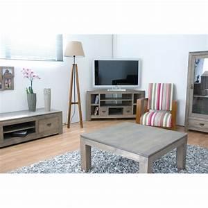 Meuble D Angle Moderne : meuble tv d 39 angle en bois 120cm helena ~ Teatrodelosmanantiales.com Idées de Décoration