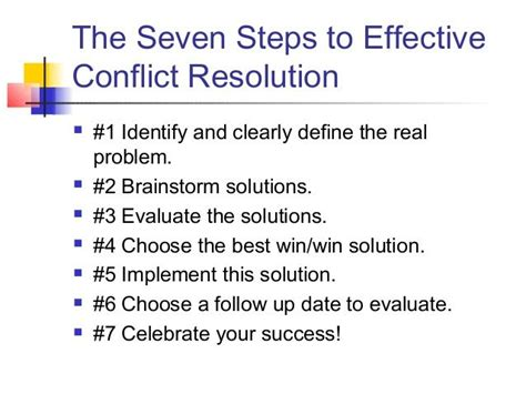 steps  effective conflict resolution