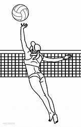 Volleyball Coloring Pages Printable Sports Colouring Cool2bkids Children sketch template