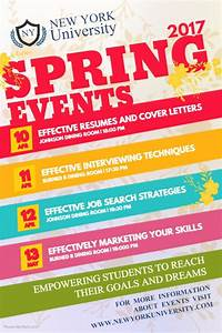 Spring Event Schedule Poster Template | PosterMyWall