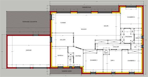 plan maison plain pied 2 chambres gratuit plan dune maison plain pied 4 chambres maison moderne