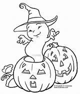 Halloween Coloring Samhain Aka Hallows Eve Ghost Pages Printable Cute Pumpkin Printables Colouring Scrink Pumpkins sketch template