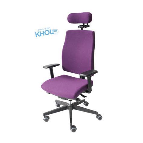 bureau violet fauteuil nantucket avec système khol air et dossier haut