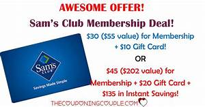 HOT Sams Club Membership Deal! As Low As $20 After Gift Card!