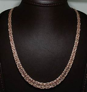 Rose Gold Sprühlack : graduated byzantine necklace 14k pink rose gold 18 20 ebay ~ Avissmed.com Haus und Dekorationen