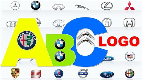 Learn Car Lgo Brands From A To Z  Full Alphabet A  Z