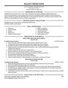 sle resume nursing assistant hospital cna duties responsibilities resume