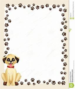 Frame clipart dog - Pencil and in color frame clipart dog