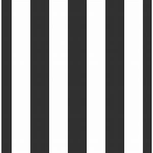 Wilko Wallpaper Stripe Black/White 50