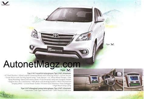 custom toyota innova venturer brochure scans of the toyota innova facelift hit the web