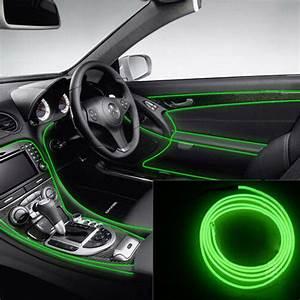 Led Auto Innenraum : 2m gr ne led neon el wire glow seil tube lichtleiste auto innenraum dekor new ebay ~ Orissabook.com Haus und Dekorationen