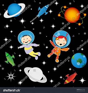 Boy And Girl Astronauts In Cosmos, Character Development ...