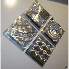 Modern Abstract Silver Metal Wall Art Original Home Decor
