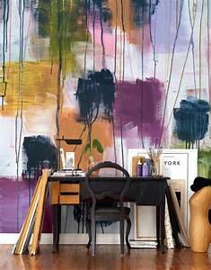 Schablonen Für Wände : 32 wandfarben ideen mit aquarell die sie begeistern werden ~ Sanjose-hotels-ca.com Haus und Dekorationen