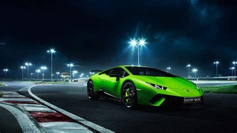 Huracan, Green, Night, Performante, Lamborghini (1920x1080