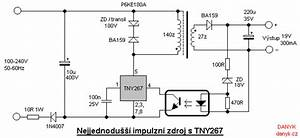 Schematic Of Switching Supply With Tny267  Tny267p