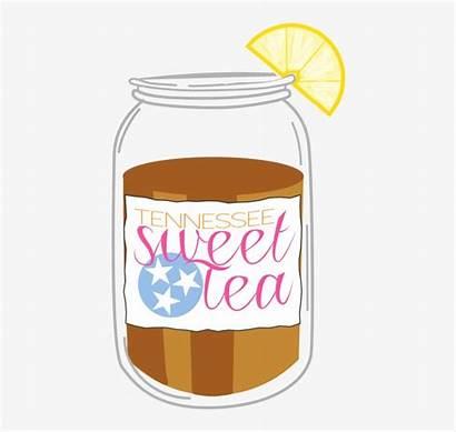 Tea Clipart Iced Clip Ice Mason Jar
