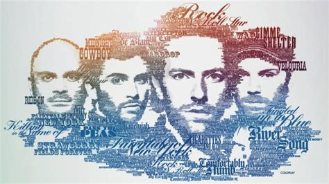 Coldplay Typographic Portrait Wallpaper - Typography HD