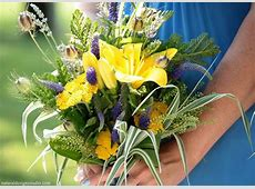 summer wildflower bouquets for weddings The bridemaids