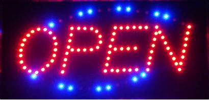 Open Neon Sign Led Animated Signs Motion