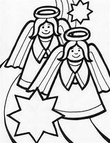 Angel Coloring Pages Christmas Sheet Angels Among Xmas Holidays Activity sketch template