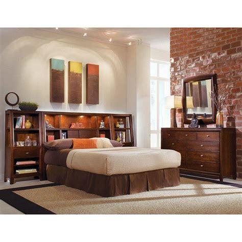 Bedroom Set With Bookcase Headboard tribecca bookcase headboard bedroom set american drew