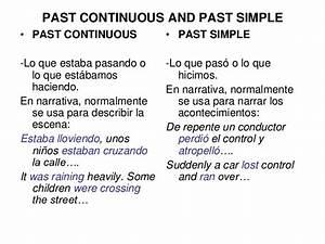 Past continuous, simple and past perfect