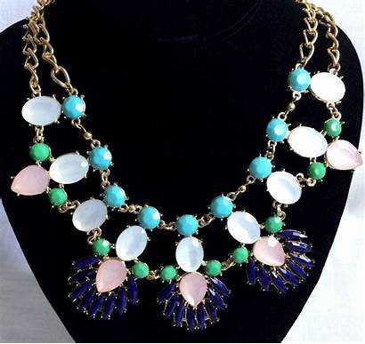 Gold Necklace Blingy Statement Tone