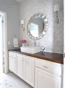 bathroom vanity wall makeover say with lowes stock With kitchen cabinets lowes with bathroom wall art pinterest