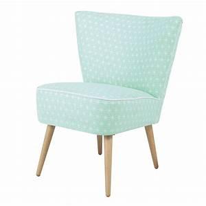 Fauteuil Vintage Scandinave : fauteuil vintage motifs en coton vert d 39 eau scandinave ~ Dode.kayakingforconservation.com Idées de Décoration