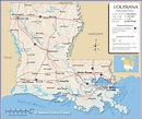Map of the State of Louisiana, USA - Nations Online Project