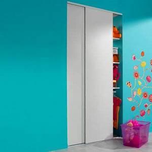Porte Coulissante 120 Cm : portes de placard coulissantes blanc 120 x 250 cm castorama ~ Dailycaller-alerts.com Idées de Décoration