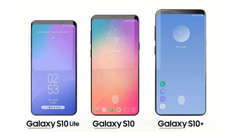 here are the samsung galaxy s10 series concept renders