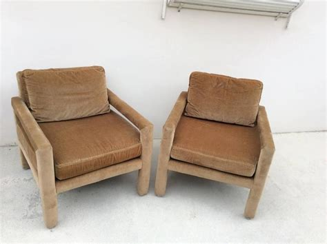 drexel heritage parsons arm lounge club chairs camel