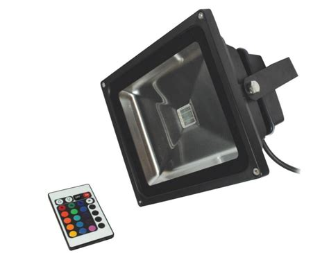 50w led floodlight rgb remote ip65 waterproof 500
