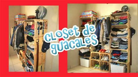 ideas para hacer un closet con guacales reciclaje