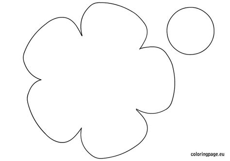 printable flower template cut out 8 best images of printable big flower printable large flower template free printable
