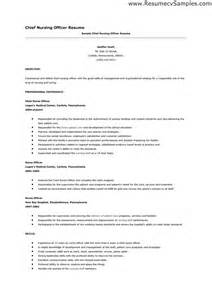 sample chief nursing officer resume