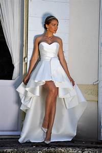 14choupette robe de mariage robe de mariee courte devant With robe pour mariage civil avec parure diamant mariage
