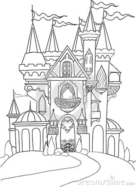 color book palace fairy tale stock  image