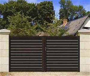 Portail 3 50m : portail coulissant marly motorise en aluminium droit ~ Premium-room.com Idées de Décoration
