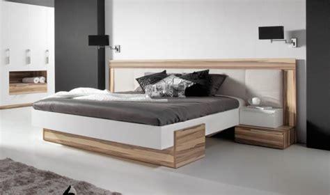 lit bois design adulte  places avec tete de lit large