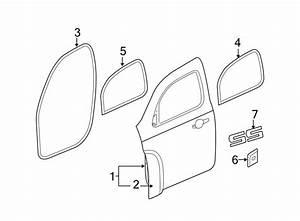 Chevrolet Hhr Door Seal  Front  Upper  Lower