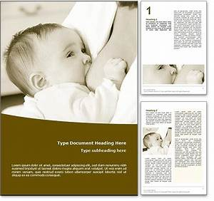 royalty free breastfeeding microsoft word template in yellow With breastfeeding brochure templates