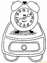 Clock Alarm Coloring Drawers Pages sketch template